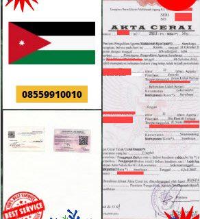 Jasa Legalisir Akta Cerai Di Kedutaan Yordania || 08559910010