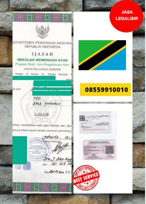 Jasa Legalisir Ijazah SMA Di Kedutaan Tanzania    08559910010