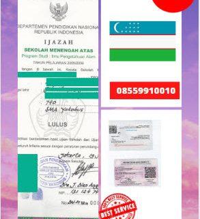 Jasa Legalisir Ijazah SMA Di Kedutaan Uzbekistan || 08559910010