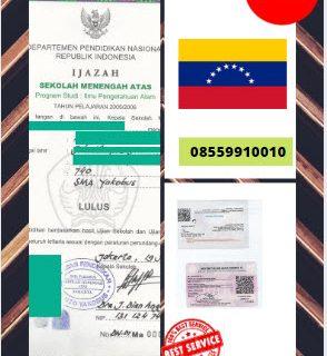Jasa Legalisir Ijazah SMA Di Kedutaan Venezuela || 08559910010
