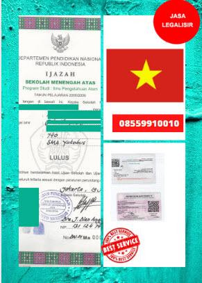 Jasa Legalisir Ijazah SMA Di Kedutaan Vietnam || 08559910010