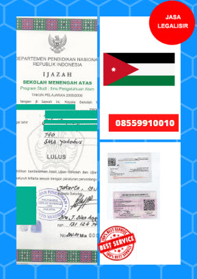 Jasa Legalisir Ijazah SMA Di Kedutaan Yordania || 08559910010