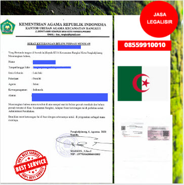 Jasa Legalisir SKBM Di Kedutaan Aljazair || 08559910010