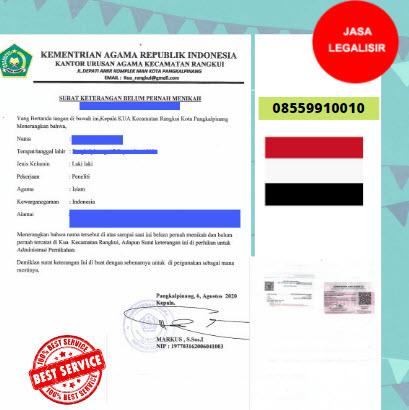 Jasa Legalisir SKBM Di Kedutaan Yaman    08559910010