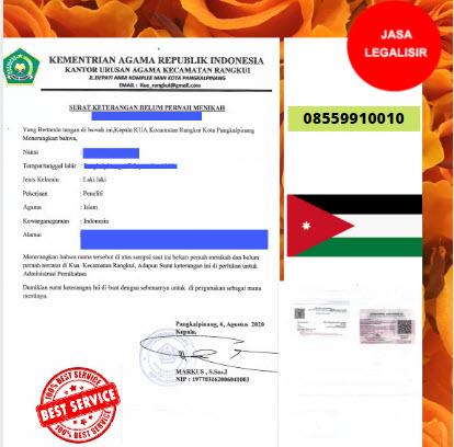 Jasa Legalisir SKBM Di Kedutaan Yordania    08559910010