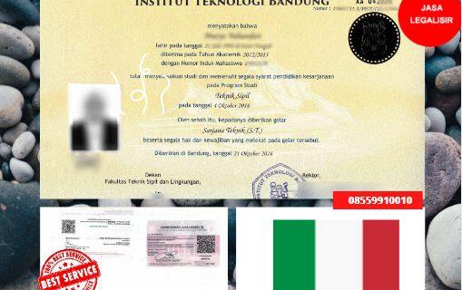 Jasa Legalisir Ijazah Universitas Di Kedutaan Italia || 08559910010