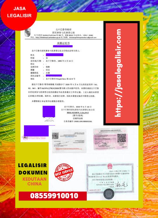 Jasa Legalisir Di Kedutaan China || 08559910010
