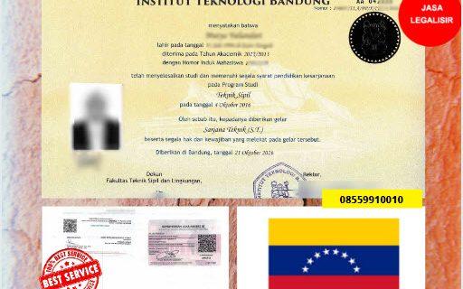 Jasa Legalisir Ijazah Universitas Di Kedutaan Venezuela || 08559910010