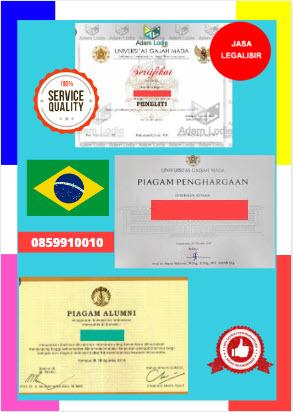 Jasa Legalisir Piagam Di Kedutaan Brasil || 08559910010