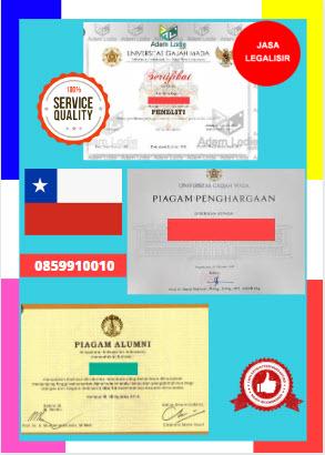 Jasa Legalisir Piagam Di Kedutaan Chili || 08559910010