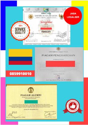 Jasa Legalisir Piagam Di Kedutaan Kolombia || 08559910010