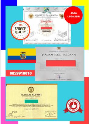Jasa Legalisir Piagam Di Kedutaan Ekuador || 08559910010