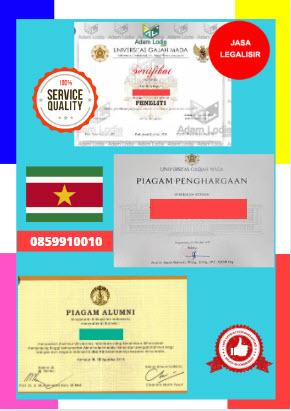 Jasa Legalisir Piagam Di Kedutaan Suriname || 08559910010