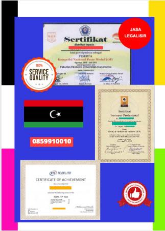 Jasa Legalisir Sertifikat Di Kedutaan Libya || 08559910010