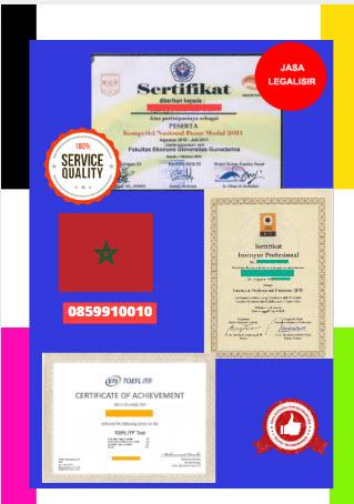 Jasa Legalisir Sertifikat Di Kedutaan Moroko || 08559910010