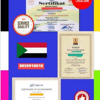 Jasa Legalisir Sertifikat Di Kedutaan Sudan || 08559910010