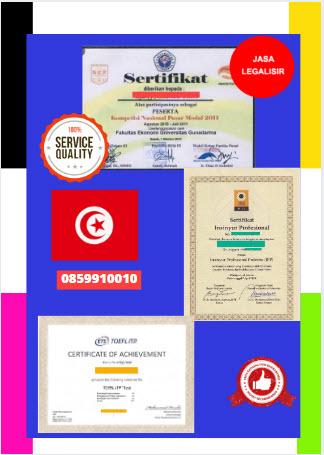Jasa Legalisir Sertifikat Di Kedutaan Tunisia || 08559910010