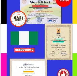 Jasa Legalisir Sertifikat Di Kedutaan Nigeria || 08559910010
