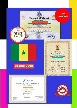 Jasa Legalisir Sertifikat Di Kedutaan Senegal || 08559910010