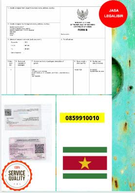 Jasa Legalisir Dokumen Invoice Perdagangan Di Kedutaan Suriname || 08559910010