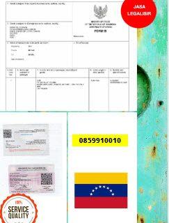 Jasa Legalisir Dokumen Invoice Perdagangan Di Kedutaan Venezuela || 08559910010