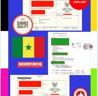 Jasa Legalisir Dokumen Perdagangan Certificate Of Origin (COO) Di Kedutaan Senegal    08559910010