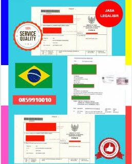 Jasa Legalisir Dokumen Perdagangan Certificate Of Origin (COO) Di Kedutaan Brasil    08559910010