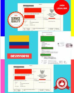 Jasa Legalisir Dokumen Perdagangan Certificate Of Origin (COO) Di Kedutaan Kolombia    08559910010