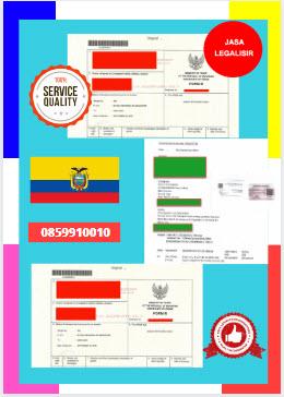 Jasa Legalisir Dokumen Perdagangan Certificate Of Origin (COO) Di Kedutaan Ekuador    08559910010