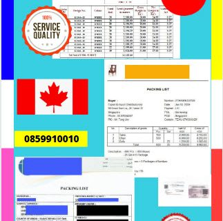 Jasa Legalisir Dokumen Perusahaan Packing List Di Kedutaan Kanada    08559910010