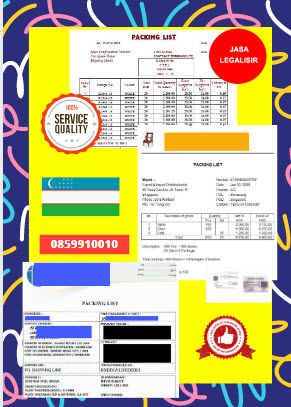 Jasa Legalisir Dokumen Perusahaan Packing List Di Kedutaan Uzbekistan || 08559910010
