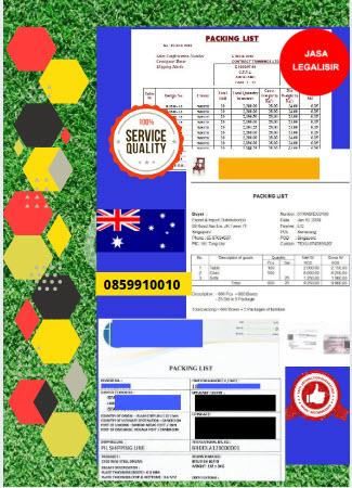 Jasa Legalisir Dokumen Perusahaan Packing List Di Kedutaan Australia || 08559910010