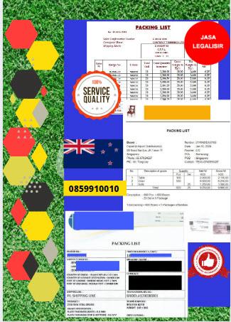 Jasa Legalisir Dokumen Perusahaan Packing List Di Kedutaan Selandia Baru || 08559910010