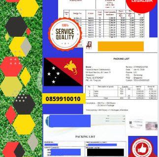 Jasa Legalisir Dokumen Perusahaan Packing List Di Kedutaan Papua Nugini || 08559910010
