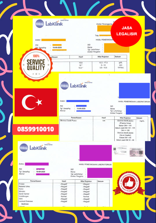 Jasa Legalisir Dokumen Medical Test Record Di Kedutaan Turki    08559910010