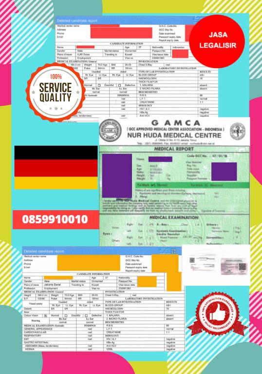 Jasa Legalisir Dokumen GAMCA Di Kedutaan Jerman || 08559910010