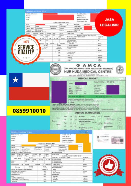 Jasa Legalisir Dokumen GAMCA Di Kedutaan Chili || 08559910010