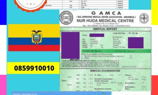 Jasa Legalisir Dokumen GAMCA Di Kedutaan Ekuador || 08559910010