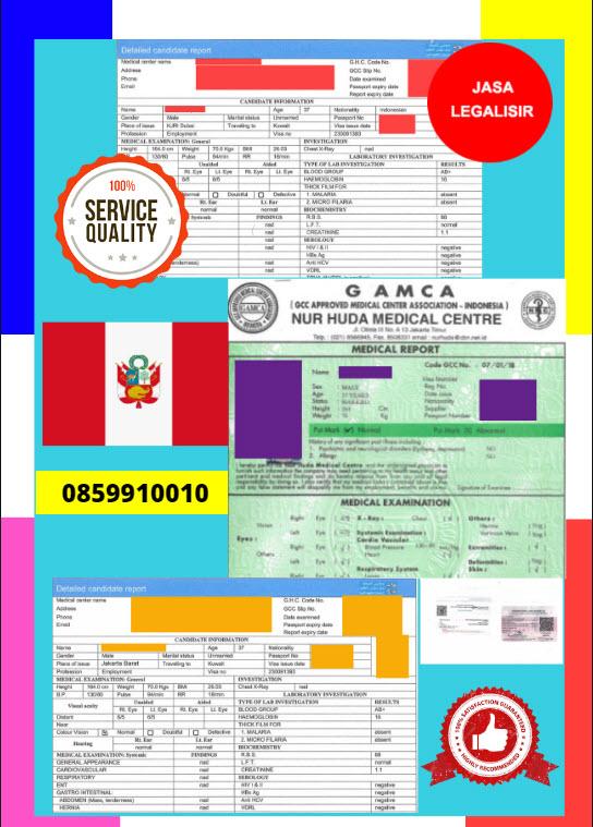 Jasa Legalisir Dokumen GAMCA Di Kedutaan Peru || 08559910010