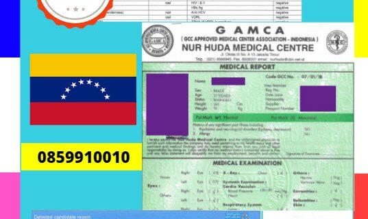 Jasa Legalisir Dokumen GAMCA Di Kedutaan Venezuela || 08559910010