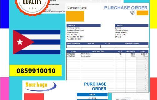 Jasa Legalisir Dokumen Perusahaan – Purchase Order (PO) Di Kedutaan Kuba || 08559910010