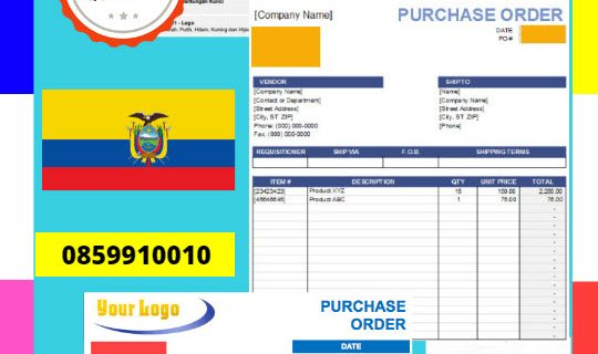 Jasa Legalisir Dokumen Perusahaan – Purchase Order (PO) Di Kedutaan Ekuador || 08559910010