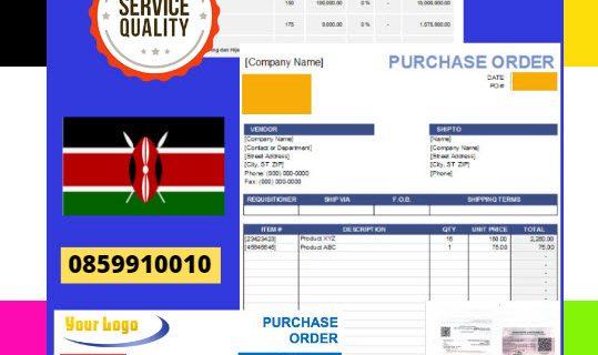 Jasa Legalisir Dokumen Perusahaan – Purchase Order (PO) Di Kedutaan Kenya    08559910010