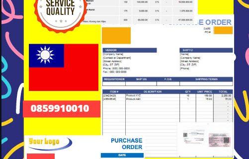 Jasa Legalisir Dokumen Perusahaan – Purchase Order (PO) Di Kedutaan Taiwan || 08559910010
