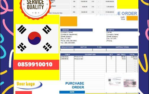 Jasa Legalisir Dokumen Perusahaan – Purchase Order (PO) Di Kedutaan Korea Selatan    08559910010
