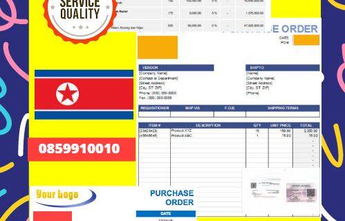 Jasa Legalisir Dokumen Perusahaan – Purchase Order (PO) Di Kedutaan Korea Utara    08559910010