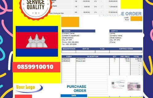 Jasa Legalisir Dokumen Perusahaan – Purchase Order (PO) Di Kedutaan Kamboja || 08559910010