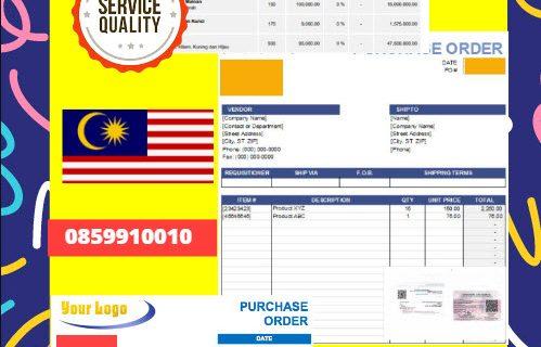 Jasa Legalisir Dokumen Perusahaan – Purchase Order (PO) Di Kedutaan Malaysia    08559910010