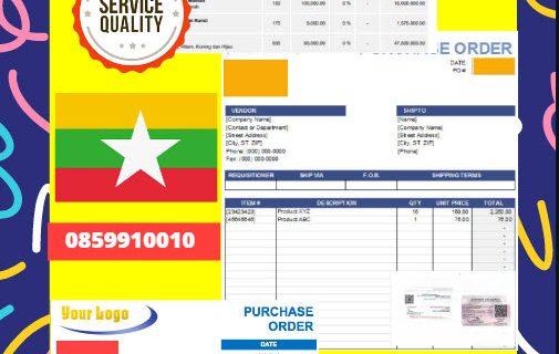 Jasa Legalisir Dokumen Perusahaan – Purchase Order (PO) Di Kedutaan Myanmar    08559910010