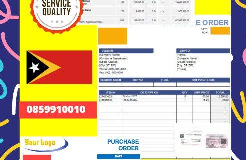 Jasa Legalisir Dokumen Perusahaan – Purchase Order (PO) Di Kedutaan Timor Leste || 08559910010